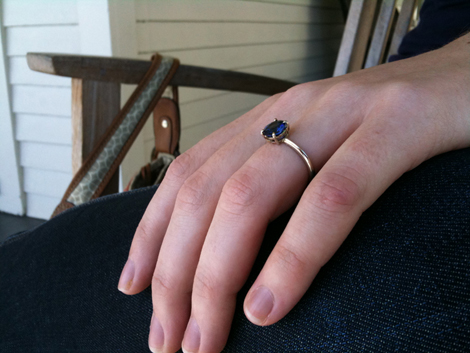 Handmade Engagement Ring - On Libby!