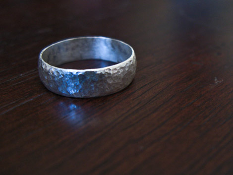 Handmade Ring, Dented for Texture!